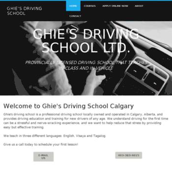 Ghiesdrivingschool.ca thumbnail