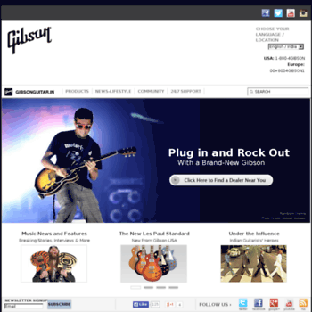 Gibsonguitar.in thumbnail