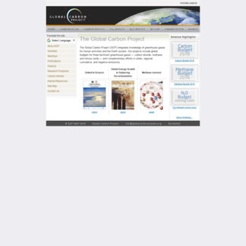 Globalcarbonproject.org thumbnail