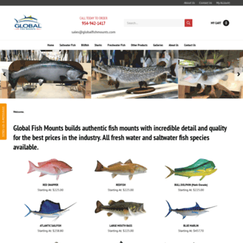 globalfishmounts com at WI  Fish Mounts Official page