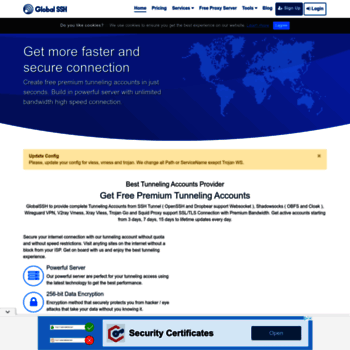 globalssh net at WI  GlobalSSH - The Best Tunneling Accounts
