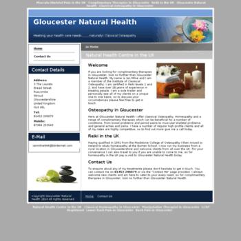 Gloucesternaturalhealth.co.uk thumbnail