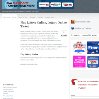 go4winnings com at WI  Play Lottery Online, Lottery Online Ticket