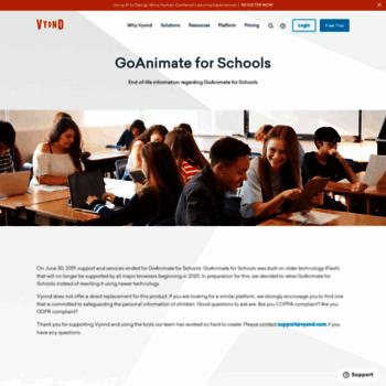 goanimate4schools com at WI  GoAnimate for Schools End-of