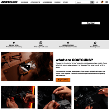 goatguns com at WI  Goatguns com | Miniature Replica Guns