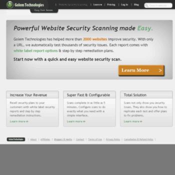 golemtechnologies com at WI  Website Security Scan | Golem