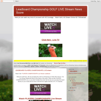 Golflivetvstreamingpga.blogspot.com thumbnail