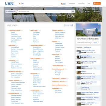golsn com at WI  Local Sales Network - Free Classified Ads on LSN com