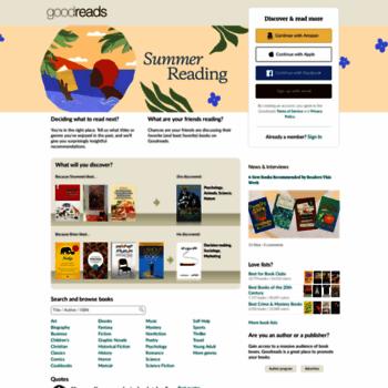 Веб сайт goodreads.com