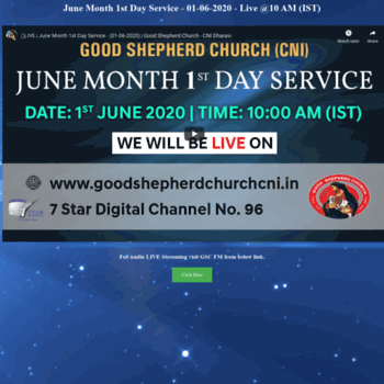 Goodshepherdchurch.in thumbnail