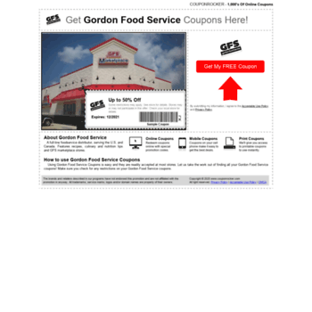 photo relating to Gfs Coupons Printable titled at WI. Gordon Food stuff Services Coupon codes