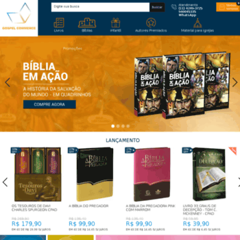 Gospelcommerce.com.br thumbnail. Loja Virtual Gospel Commerce sua livraria  evangélica ... 89e10622c0f