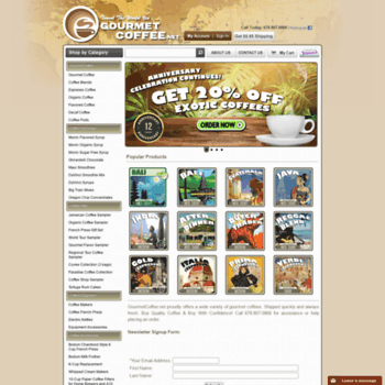 Gourmetcoffee.net thumbnail