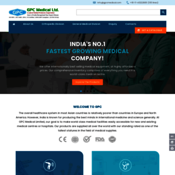gpcmedical com at WI  #1 Medical Equipment Manufacturer