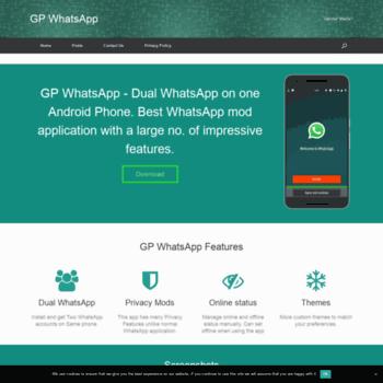 gpwhatsapp com at WI  GP WhatsApp Download - Dual WhatsApp