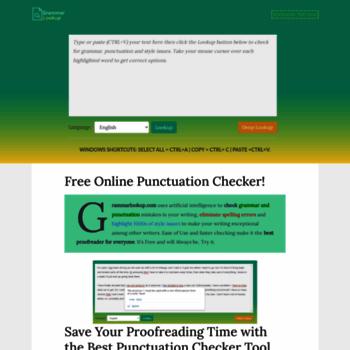 grammarlookup com at WI  Punctuation Checker | #1 Grammar Check