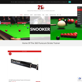 gravitycue com at WI  21st Century Cue Sports Company | Cue