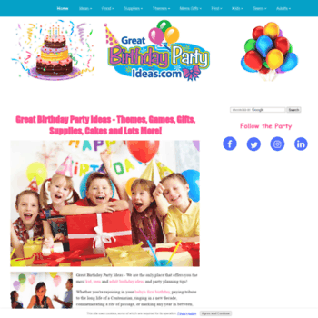 Great Birthday Party Ideas Thumbnail