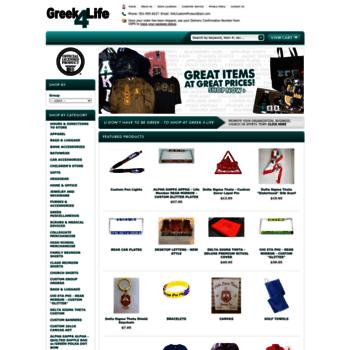 greek4life com at WI  Greek Paraphernalia for Sororities and