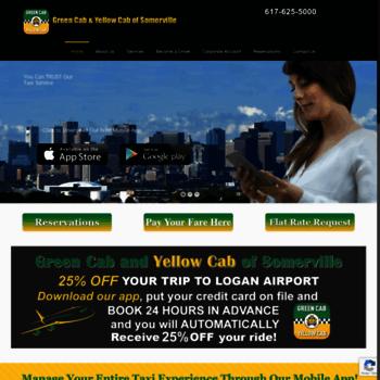 greenandyellowcab com at WI  Airport Taxi Service Cambridge