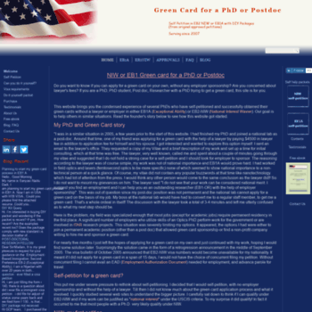 greencardforphd com at WI  Green Card for a PhD or Postdoc