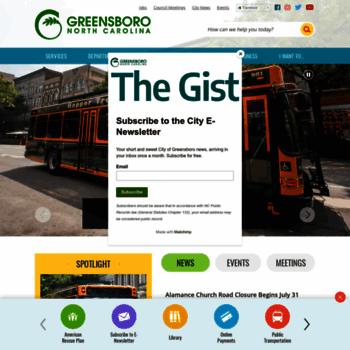 Greensboro-nc.gov thumbnail