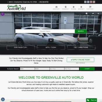 Greenvilleautoworld.net thumbnail