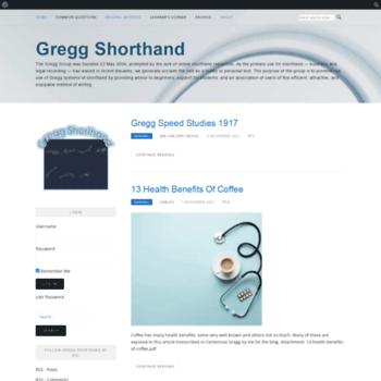 gregg-shorthand com at WI  Gregg Shorthand - The Gregg Group