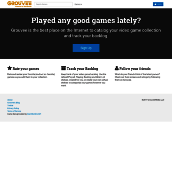 grouvee com at WI  Track your game collection and backlog