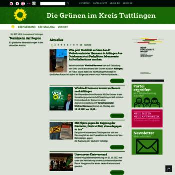 Gruene-tuttlingen.de thumbnail