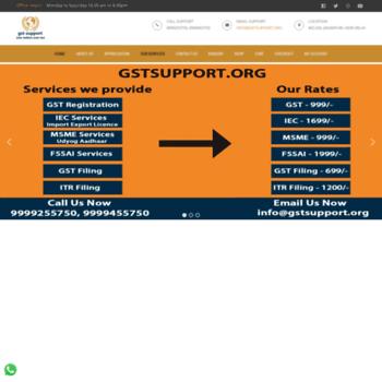 Gstsupport.org thumbnail