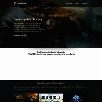guildwork com at WI  Free Guild Hosting WOW FFXI FFXIV GW2 TERA