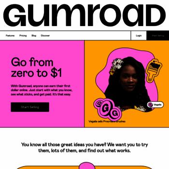 Веб сайт gumroad.com