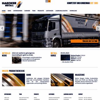Haecker-metall.de thumbnail