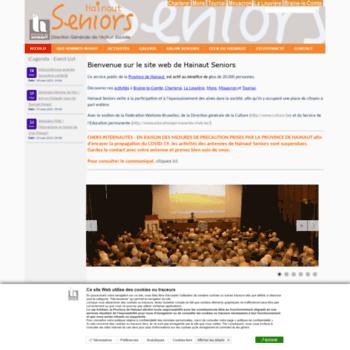Hainaut-seniors.be thumbnail
