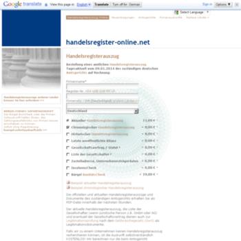 Handelsregister Online Net At Wi Handelsregisterauszug Online Aus