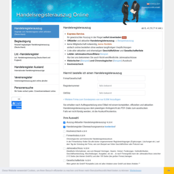 Handelsregisterauszug Online De At Wi Handelsregisterauszug Aus Dem