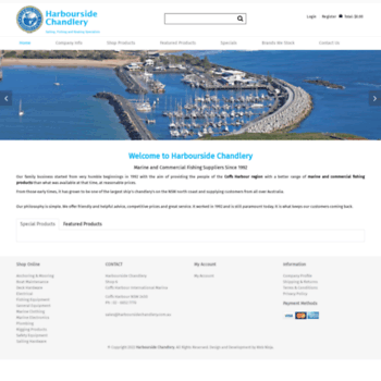 Harboursidechandlery.com.au thumbnail