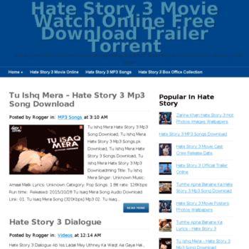 hatestory3 in at WI  Hate Story 3 Movie Watch Online Free