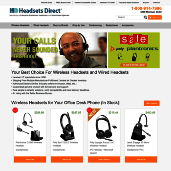 headsetsdirect com at WI  Plantronics Corded and Wireless