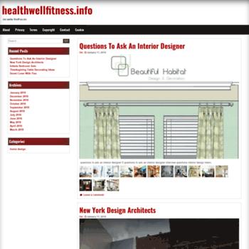 Healthwellfitness.info thumbnail