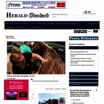 heraldstandard com at WI  heraldstandard com: Your Online