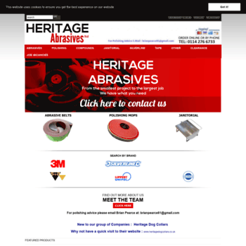 Heritageabrasives.co.uk thumbnail