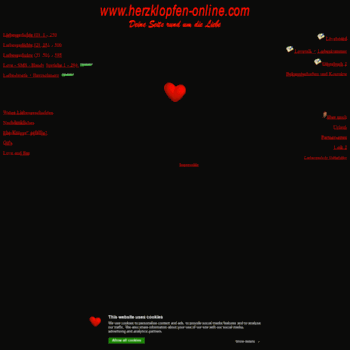 Herzklopfen Onlinecom At Wi Herzklopfen Deine Seite Rund