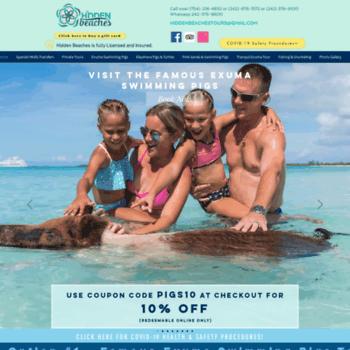 hiddenbeachesbahamas com at WI  Swimming Pigs Beach Tours Nassau