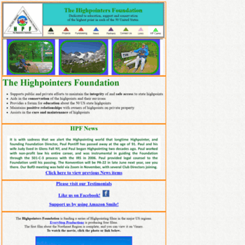 Highpointersfoundation.org thumbnail