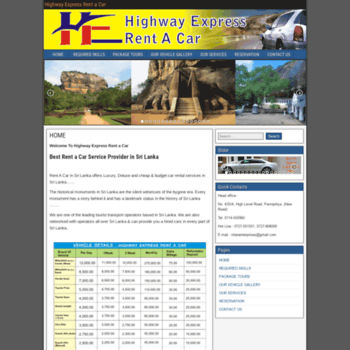 highwayexpressrentacar com at WI  Highway Express Rent a Car