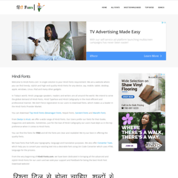 hindi-fonts com at WI  HindiFonts : Download Free Fonts