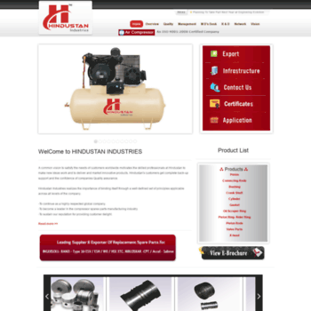 Hindustancompressor.com thumbnail