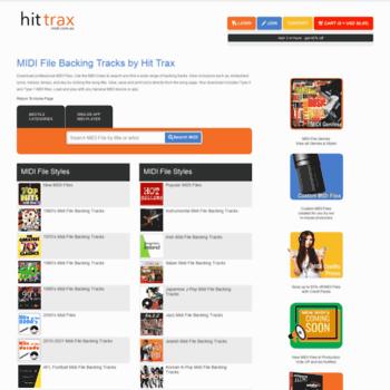 hittrax com au at WI  MIDI Files Backing Tracks MIDI-Karaoke | Hit Trax